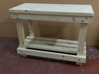 Wooden work bench , New solid Quality build , Heavy Duty for shed or workshop ,Handmade.