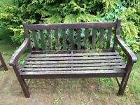 Garden bench, nice and solid