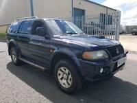 MITSUBISHI SHOGUN SPORT 2.5 DIESEL. 5 SPEED MANUAL. MOT'D. SUPERB ENGINE & GEARBOX.