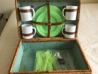 Picnic Basket Plus 2 Small Cool Bags
