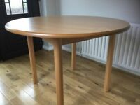 Light wood effect dining table
