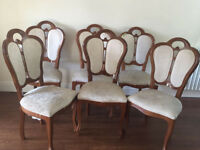 6 dining chairs for sale - £55 for all 6