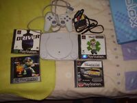 PSONE WITH GAMES