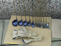 """LADIES GRAPHITE GOLF CLUBS """"GOLDEN BEAR"""" WITH BAG/TROLLEY"""