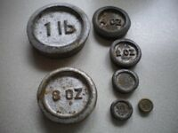 Antique Cast Iron Scale Weights