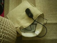 SERENITY BEAUTY DOUBLE FOOT WARMER and MASSAGER. AS NEW. TEMPERATURE CONTROL; FLEECE LINED.
