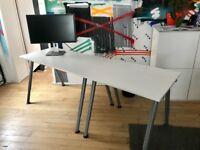 Ikea two part desk set