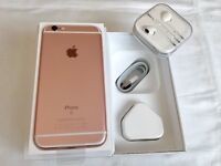 iPhone 6S 64GB Rose gold brand new in box with Apple warranty receipt all accessories for sale