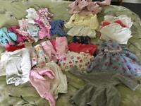 First size/new born baby girls clothes