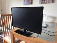 "Logik LED TV 24"" w/built-in DVD player."