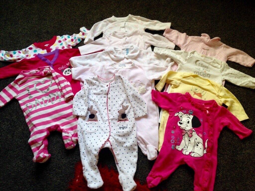 0-3 month baby girls HUGE bundle next miniclub Disney
