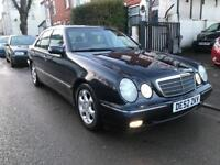 2002 MERCEDES E CLASS E240 AUTOMATIC. AUTO. 85000 MILES ONLY. FULL SERVICE HISTORY. LEATHERS. A/C.