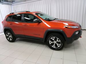 2016 Jeep Cherokee TRAILHAWK V6 4X4! NAVIGATION AND HEATED LEATH
