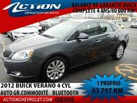 2012 BUICK VERANO SEDAN GR COMMODITÉ  4 CYL BLUETOOTH