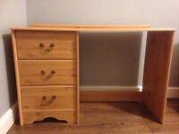 Wooden desk PLUS drawers