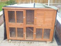 5 FT Double Rabbit Hutch complete with rain cover