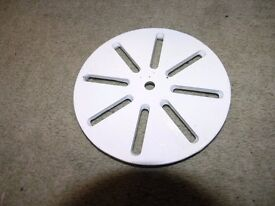 New White Metal Circular Shower Drain Cover Weymouth