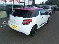 2012 12 CITROEN DS3 1.6 E-HDI AIRDREAM DSPORT PLUS 3D 111 BHP **** GUARANTEED FINANCE ****