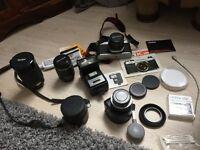 Pentax K1000 camera, case & accessories
