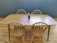 Solid wood Nordic design dining table set