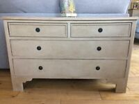 Vintage Painted Chest Of Drawers/Hall Console Table/Linen Storage