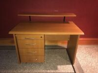 Solid Wood Study Desk with Removable Drawers