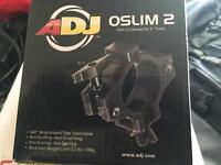 """4 X Brand new AMERICAN DJ OSLIM 2 CLAMP FOR 2"""" 50mm TRUSSING FOR LIGHTING EFFECTS & CANS"""
