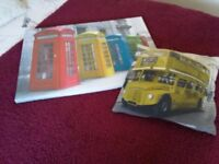 Canvas and cushion postbox and bus