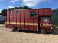 DAF 45 HORSE BOX 2 HORSE MOT DRIVES WELL £1250 FOR QUICK SALE