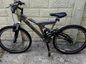 "Raleigh mountain bike ,26"" wheels."