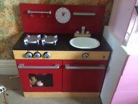 Wooden kids kitchen