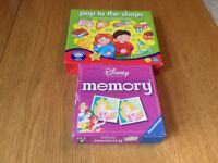 Pop to the shops & Disney memory game for ages 4+