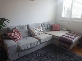 Ikea Kivik 3 seater sofa with chaise longue