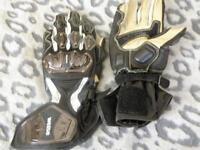Weise tornado leather sport armoured bike gloves