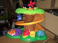 Fisher price amazing animals roll around jungle treehouse