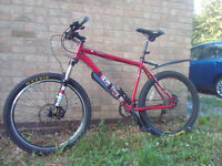 VooDoo Hoodoo Mountain Bike, Red Alloy Frame, in great condition for sale