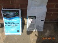 two , 20kg bags of fence post rapid set cement. new unopened ,