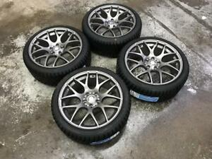 18inch Grey Wheels 5x112 and Winter Tires 225/40R18 (Mercedes Cars) Calgary Alberta Preview
