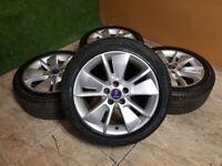 """Genuine SAAB 9-3 9-5 17"""" Alloy wheels 5x110 Saab 93 95 Vauxhall Corsa Astra for sale  Clacton-on-Sea, Essex"""