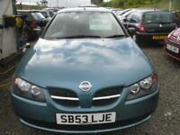 NISSAN ALMERA 1.5 S 5dr BEING MOT'D TODAY - TRADE-IN TO CLEAR (turquoise) 2003