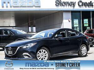 2014 Mazda MAZDA3 GS AUTO,.65%CERT,LOW KM,ACCID FREE,NAV,B/CAM,B