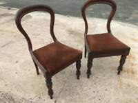 2 Victoria Bloom Back Chairs
