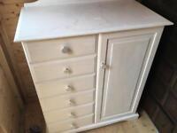Unusual drawers and half wardrobe