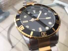 Sekonda quartz submariner watch.