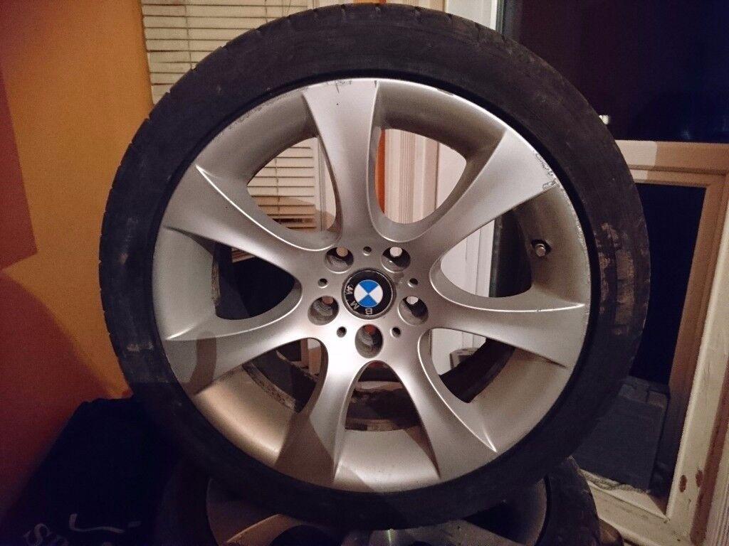 BMW 5 SERIES RIMS & RUN FLAT TYRES VGC