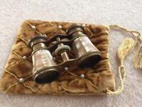 Vintage mother of pearl/brass binoculars