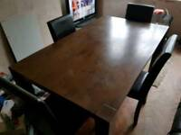 dining table and 4 chaits