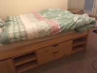 Wooden double bed (price negotiable)