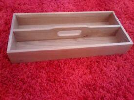 quality solid oak cutlery tray