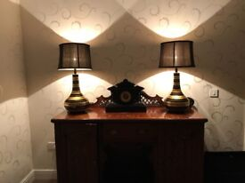 Pair designer lamps